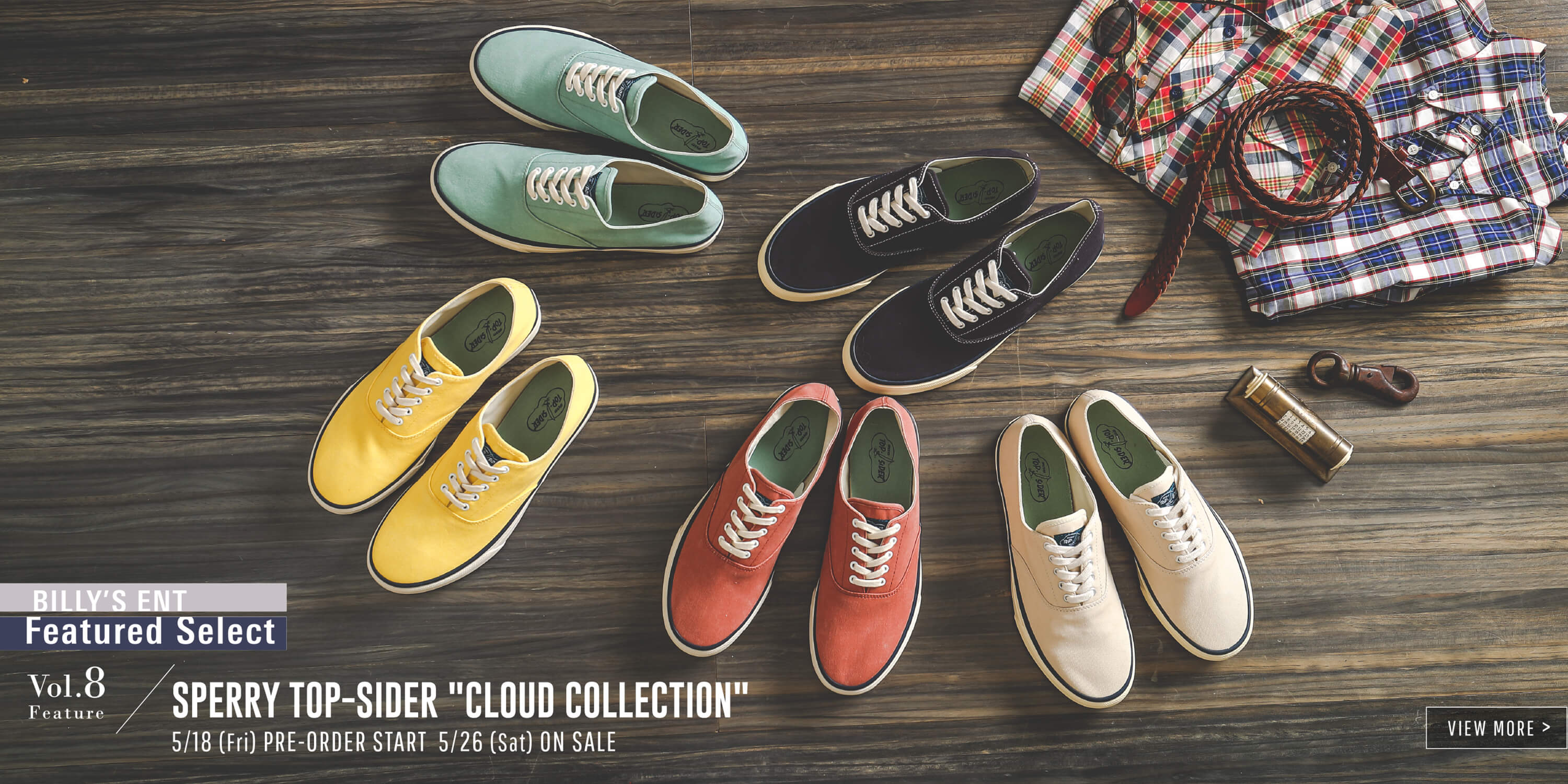 vol.8 SPERRY TOP-SIDER CLOUD COLLECTION
