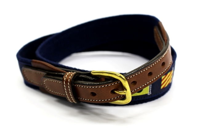 TORY WEBBING BELT W FLAG TAPE