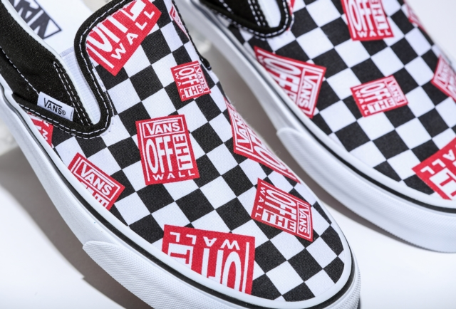 classic slip on off the wall check us5 23 0cm otw blk red