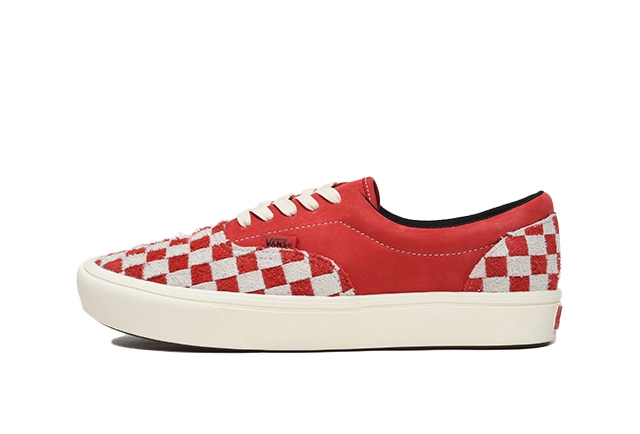 (HAIRY SUEDE/NUBUCK) RACING RED/MARSHMALLOW CHECKERBOARD