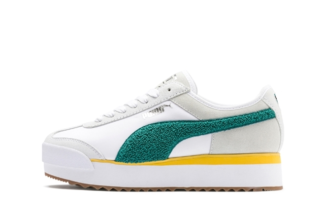 04PUMA WHITE HEATHER-TEAL GREE