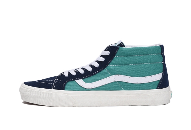 (Suede/Warped Check) dress blues/sea green