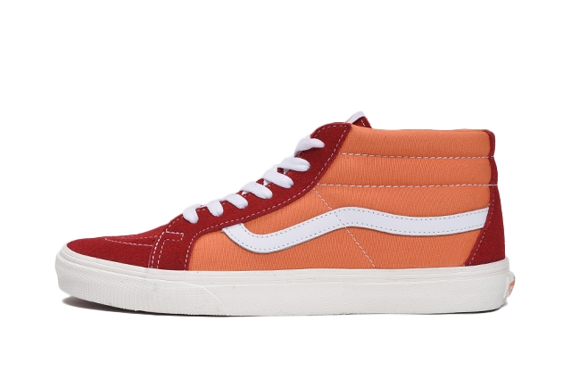 (Suede/Warped Check) chili pepper/amberglow