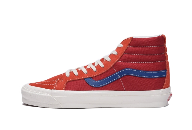(SUEDE/CANVAS) GRENADINE/POMPEIAN RED