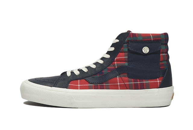(BARACUTA)DRESS BLUES/TARTAN PLAID/MARSHMALLOW