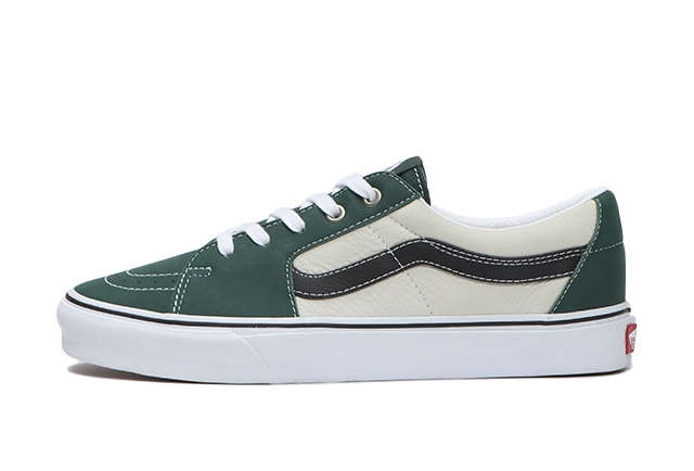 (LEATHER)BISTRO GREEN/MARSHMALLOW