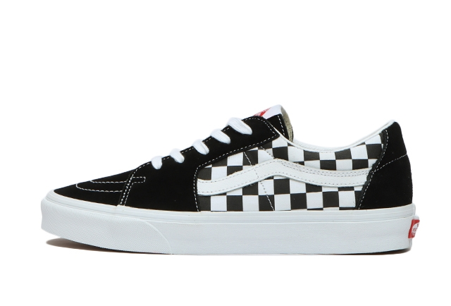 (CANVAS/SUEDE)BLACK/CHECKERBOARD