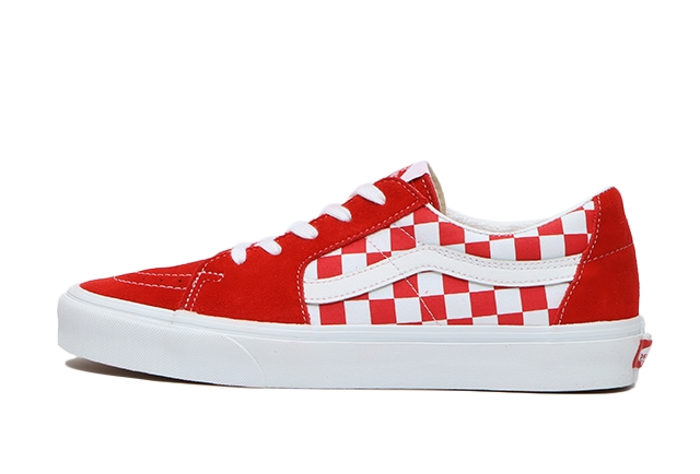 (CANVAS/SUEDE)RACING RED/CHECKERBOARD